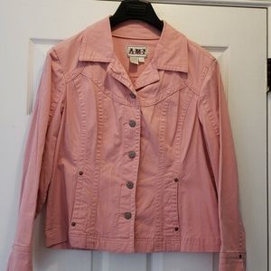 AMX pink fitted jacket